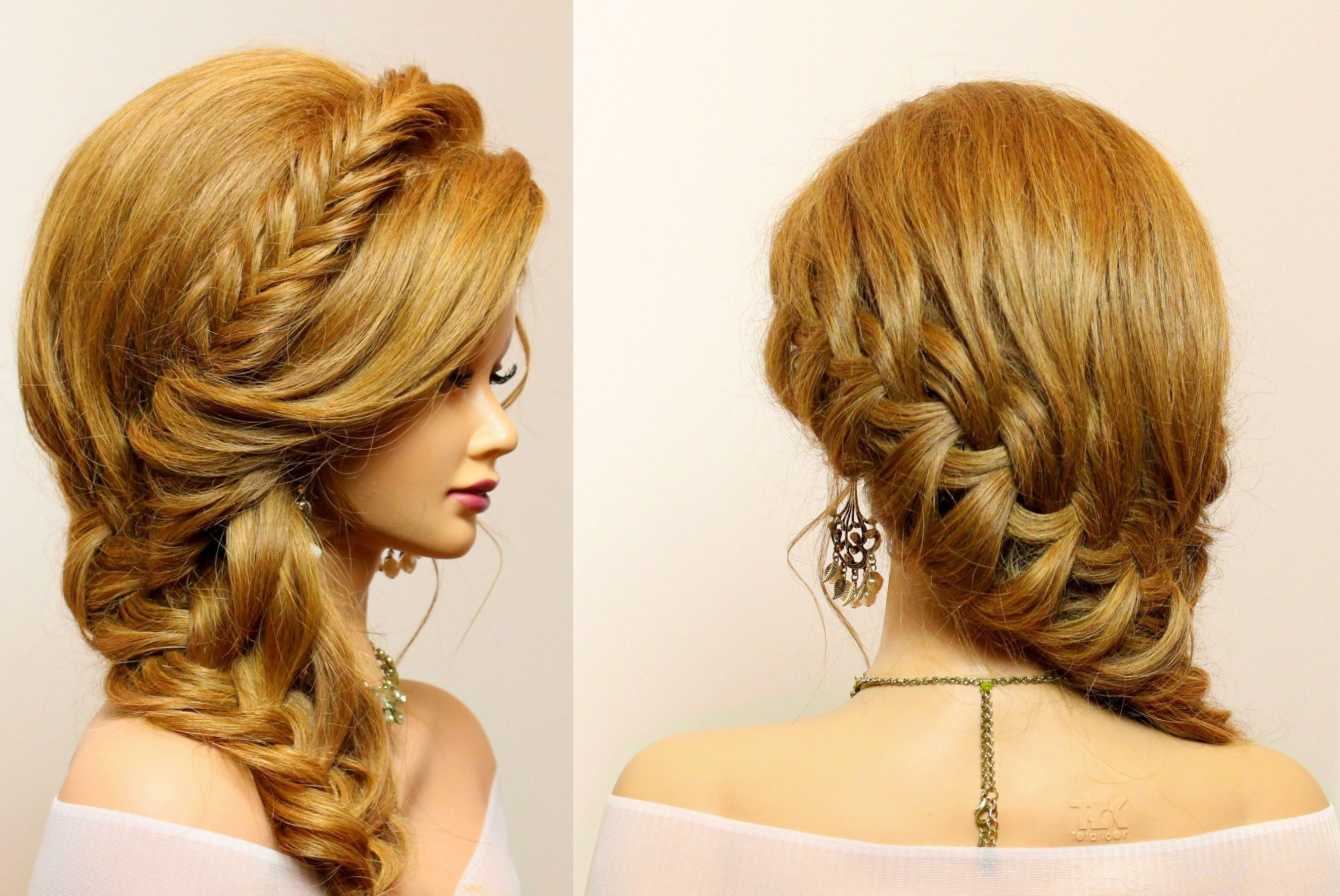 Braided hairstyle for party everyday Long hair tutorial