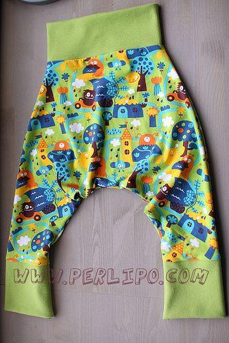 Harem trousers pattern from 1 month old to 5 years old  Patron de pantalon sarouel de 1 mois à 5 ans