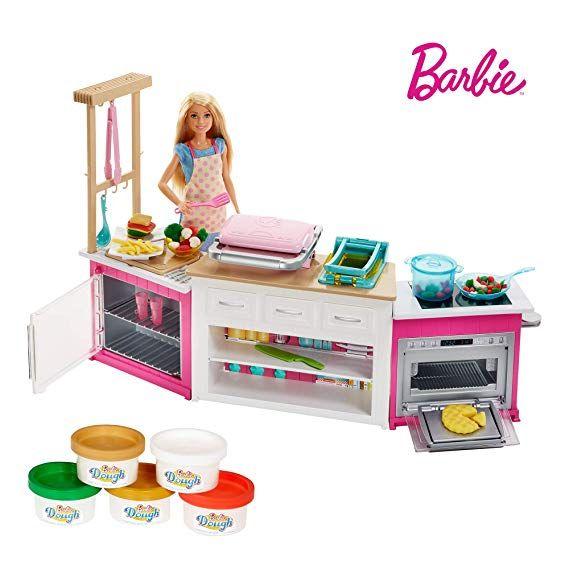 Barbie Cooking Und Baking Deluxe Kuche Spielset Und Puppe Barbie