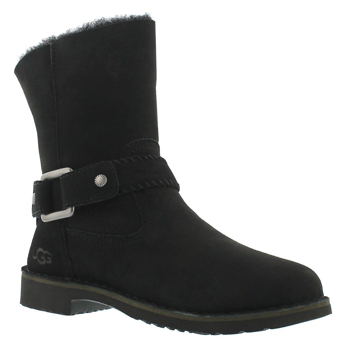 Ugg Cedric black fold down sheepskin boot | Shoes, shoes
