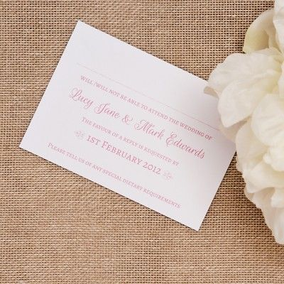 crystal dreams rsvp cards 0 40 personalised free with the bride