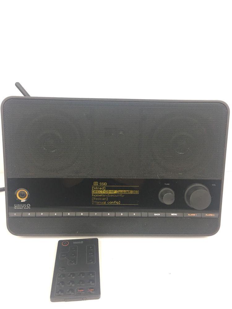 Sirius XM TTR1 Tabletop Satellite Radio Alarm Clock Ethernet