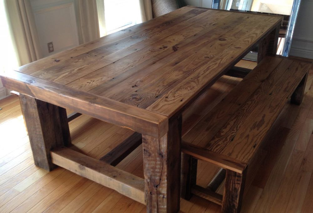 Wood Dining Room Table With Bench The Best Furniture Tables For Small Kitchen