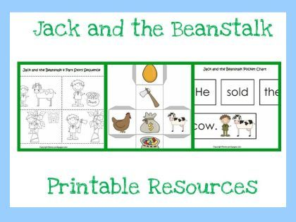 Jack and the beanstalk on Pinterest | Sensory Bins, Retelling and Fai ...