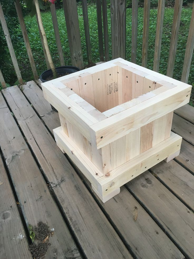 2x4 Planter In 2019 Woodworking Wood Planters