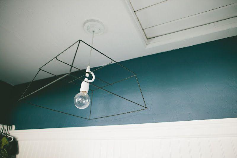 DIY Metal Basket Light