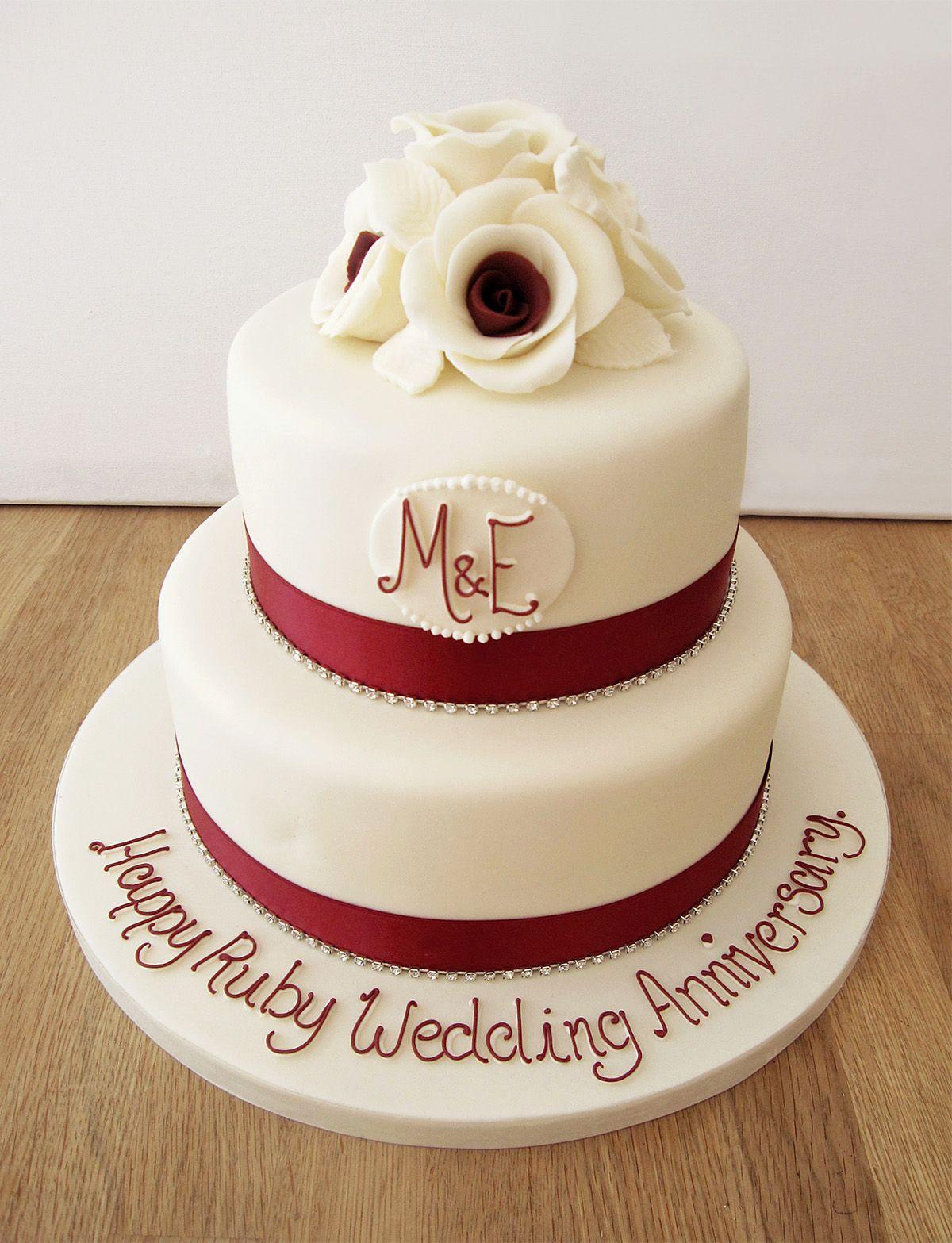 fresh flower ruby anniversary cake Google Search 40th wedding