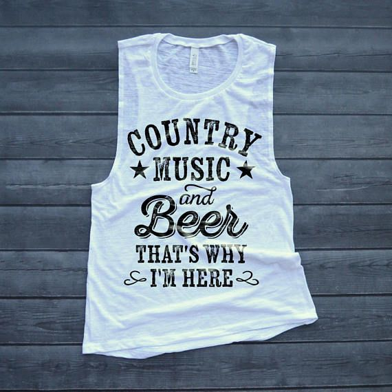 Country Music Muscle Tank Country Music and Cold Beer | Etsy