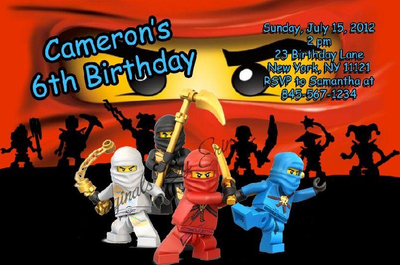 Lego Ninjago Invitations Free Printable Catalog Ninjago Lego