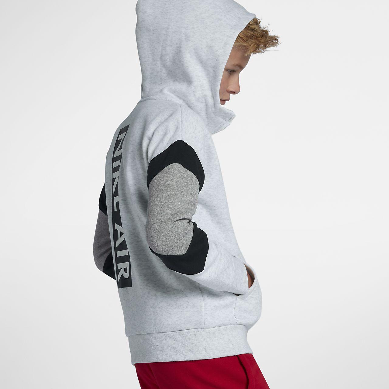 Nike Air Hoodie BlackDark Grey HeatherWhite Kids