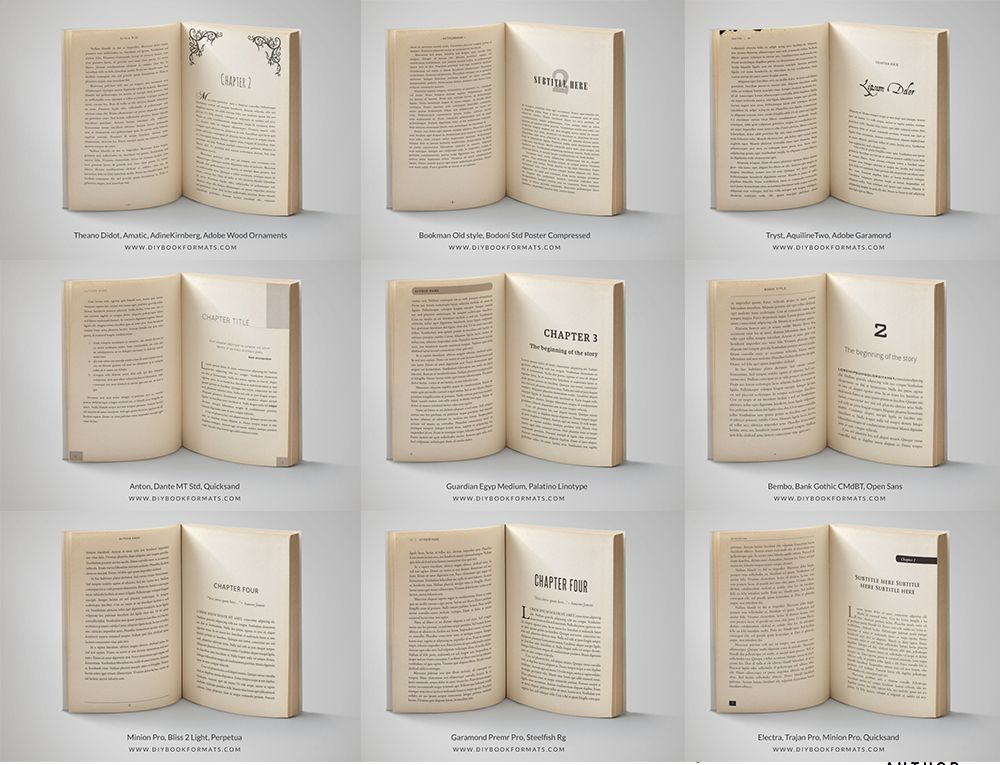 Free Book Formatting Templates Indesign And Ms Word For