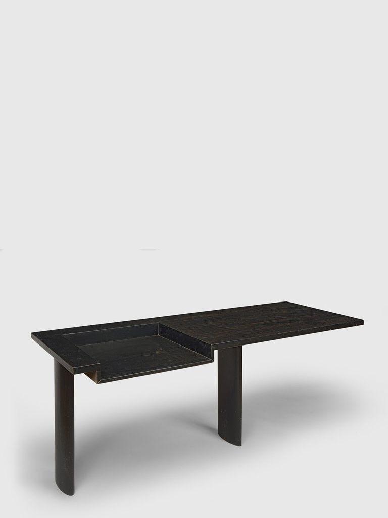 Le corbusier u pierre jeanneret desk in blackstained solid teak