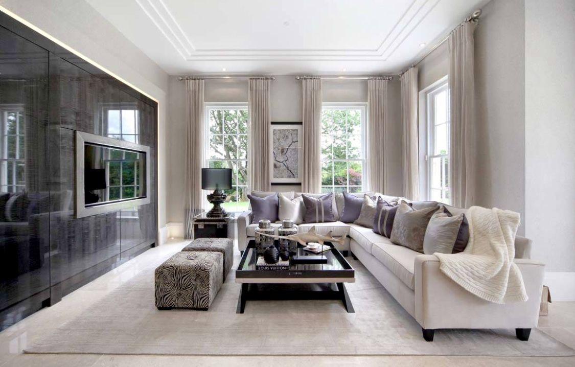 Elegant Classy Grey Living Room Modern Traditional Living Room Living Room Decor Traditional Minimalist Living Room Decor #transitional #design #living #room