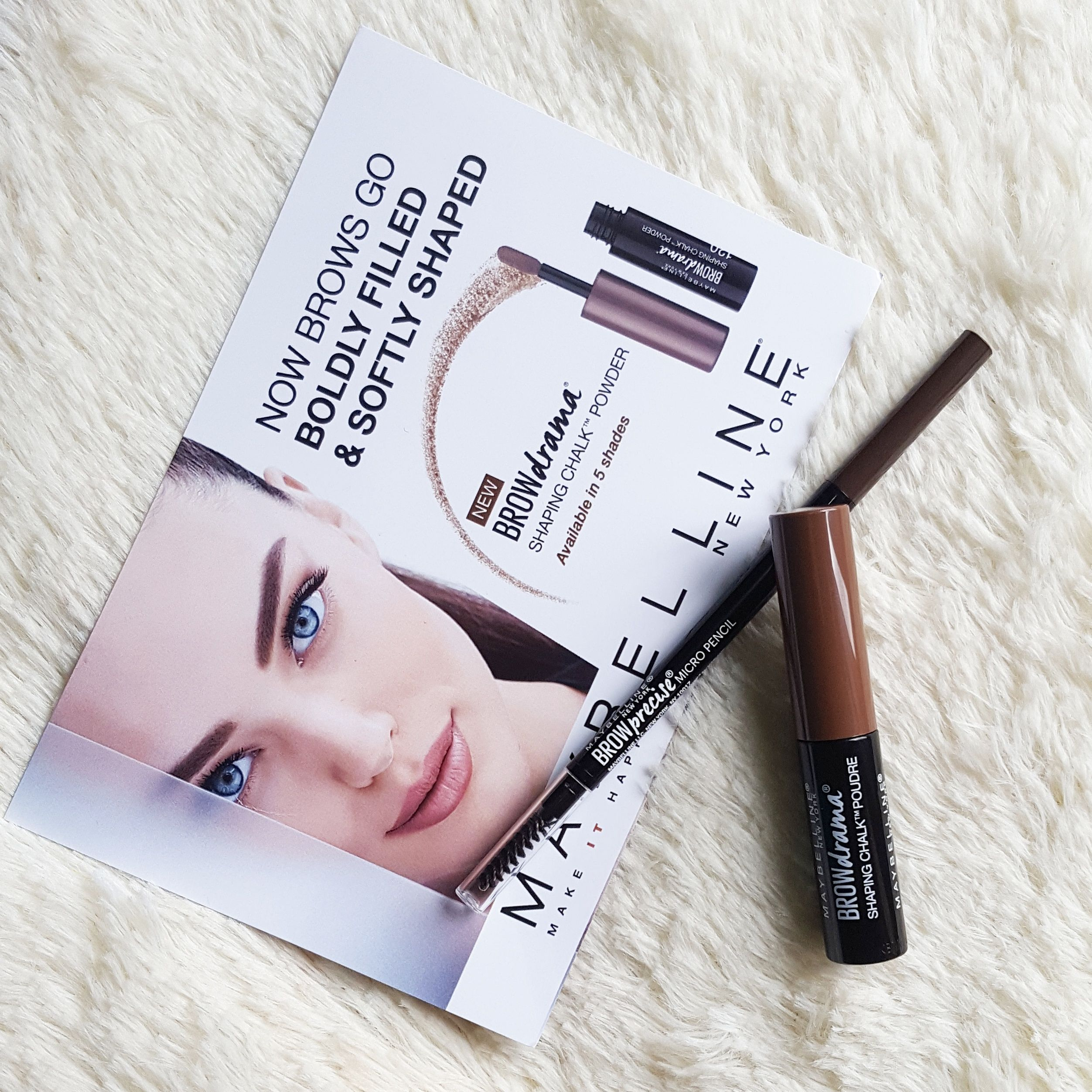 Maybelline Brow Drama Shaping Chalk Powder Review and