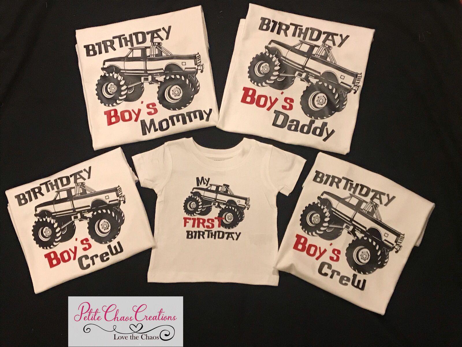 Monster Truck Family Shirts Family Birthday Shirts Monster Truck Birthday Family Birthdays