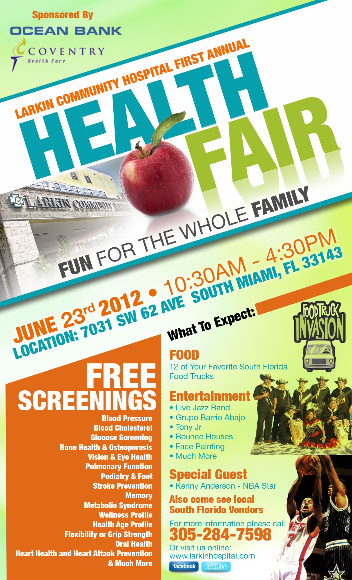 Flyer Sample  Health Fair Ideas    Health Fair And School