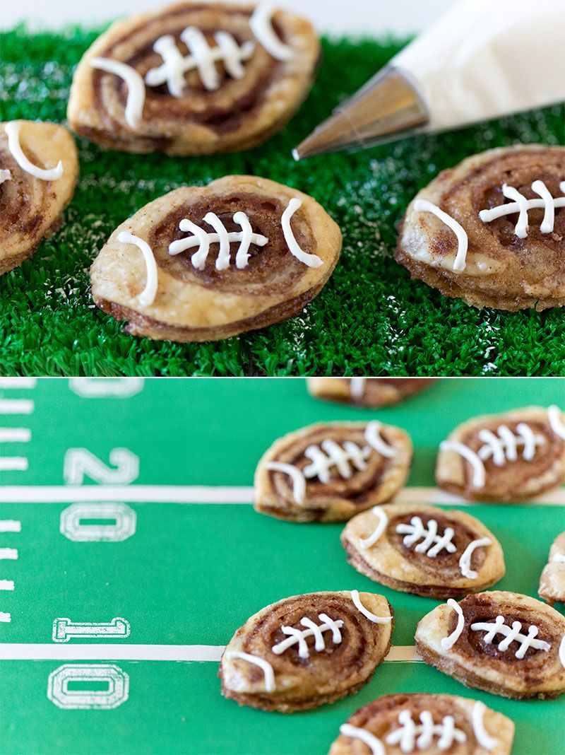 Football Cookies #tailgatefood