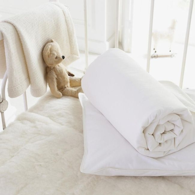 cot bed wool duvets from white cloud