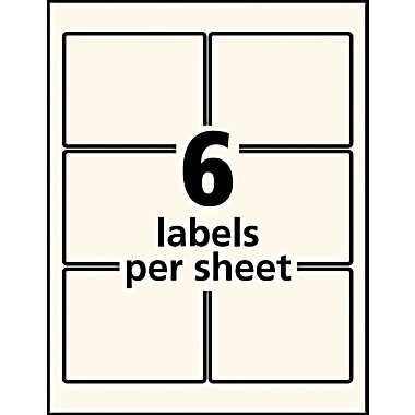 avery 22823 pearlized rectangular 3x3 labels p3 pinterest. Black Bedroom Furniture Sets. Home Design Ideas