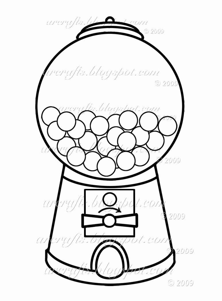 Gumball Machine Coloring Page Elegant Gumball Machine Coloring Page Picture I M Going To Use This To Make A Shaker C Bubble Gum Machine Gumball Machine Gumball