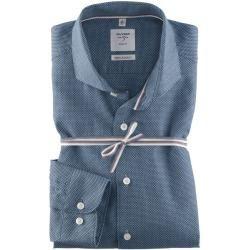Photo of Olymp Level Five Smart Business skjorte, body fit, hai, marine, 44 olympymp