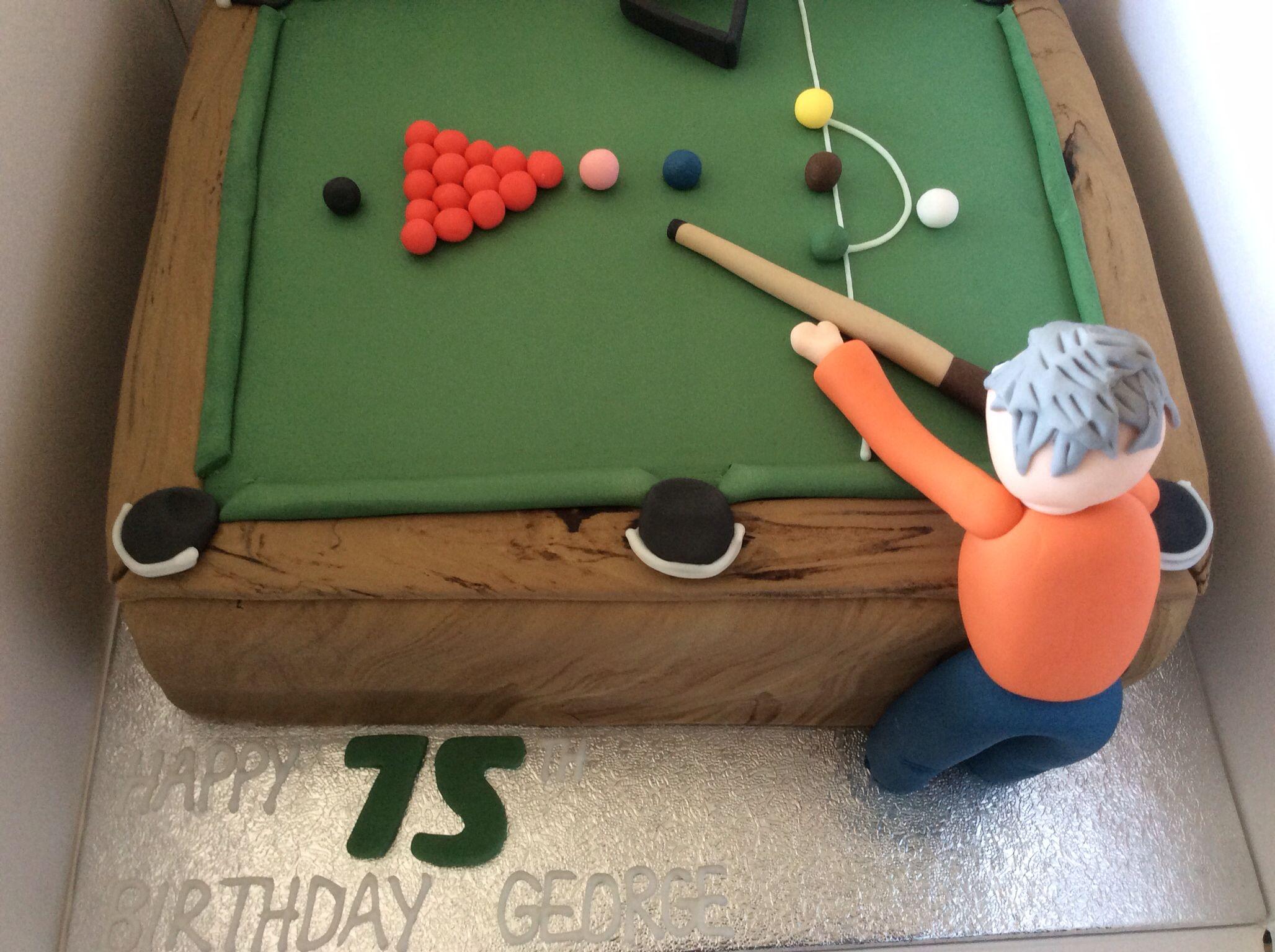 Snooker cake birthday planning pinterest cakes