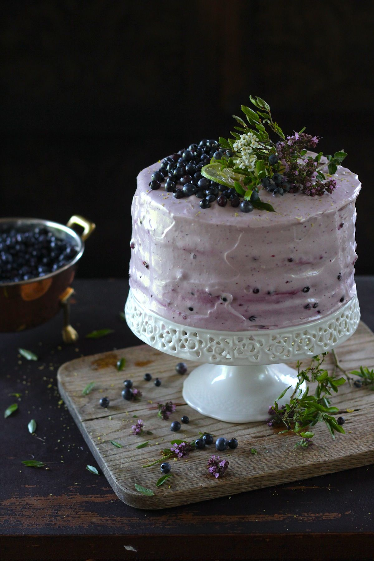Blueberry cake recipe with cream cheese icing