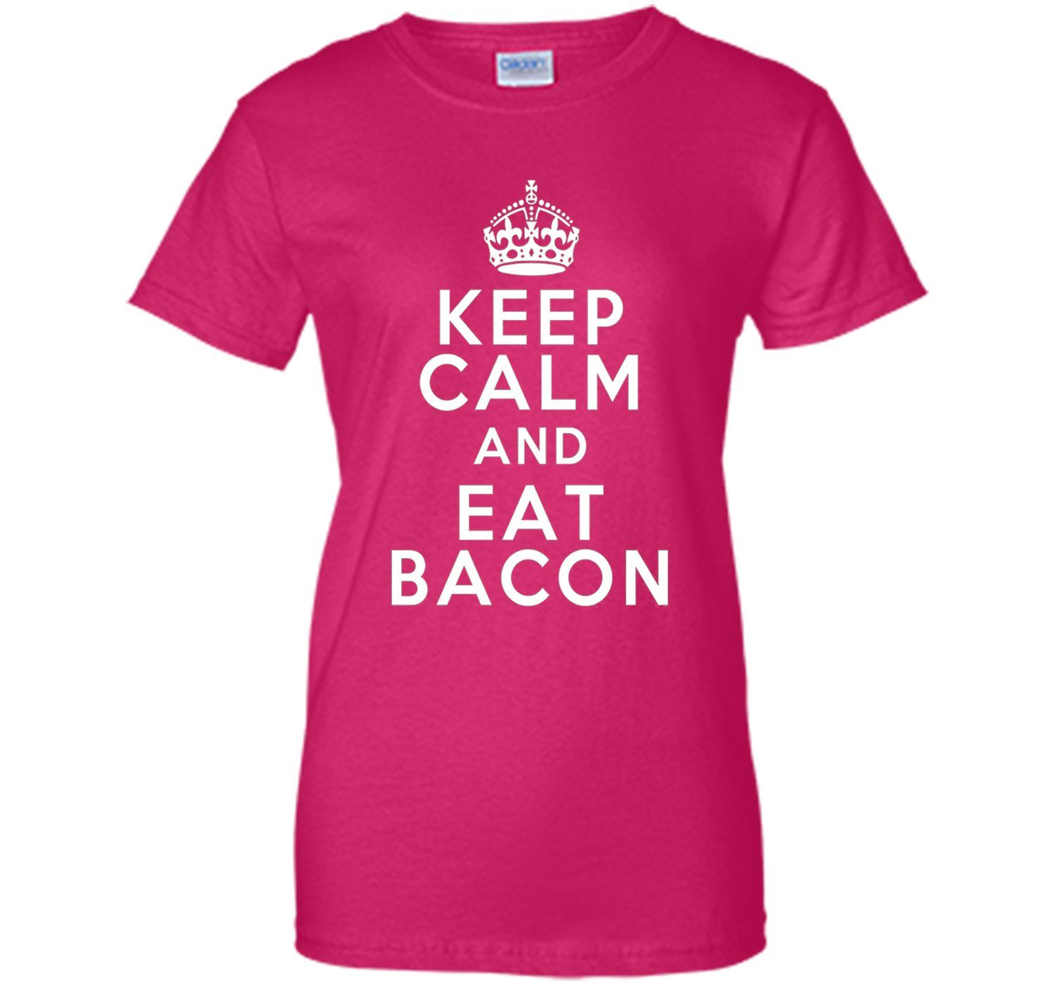 The Classic T-shirt Gift Keep Calm Eat Bacon