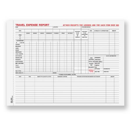 TERCC-363, Snap-A-Part Travel Expense Report Human Resource - expense report