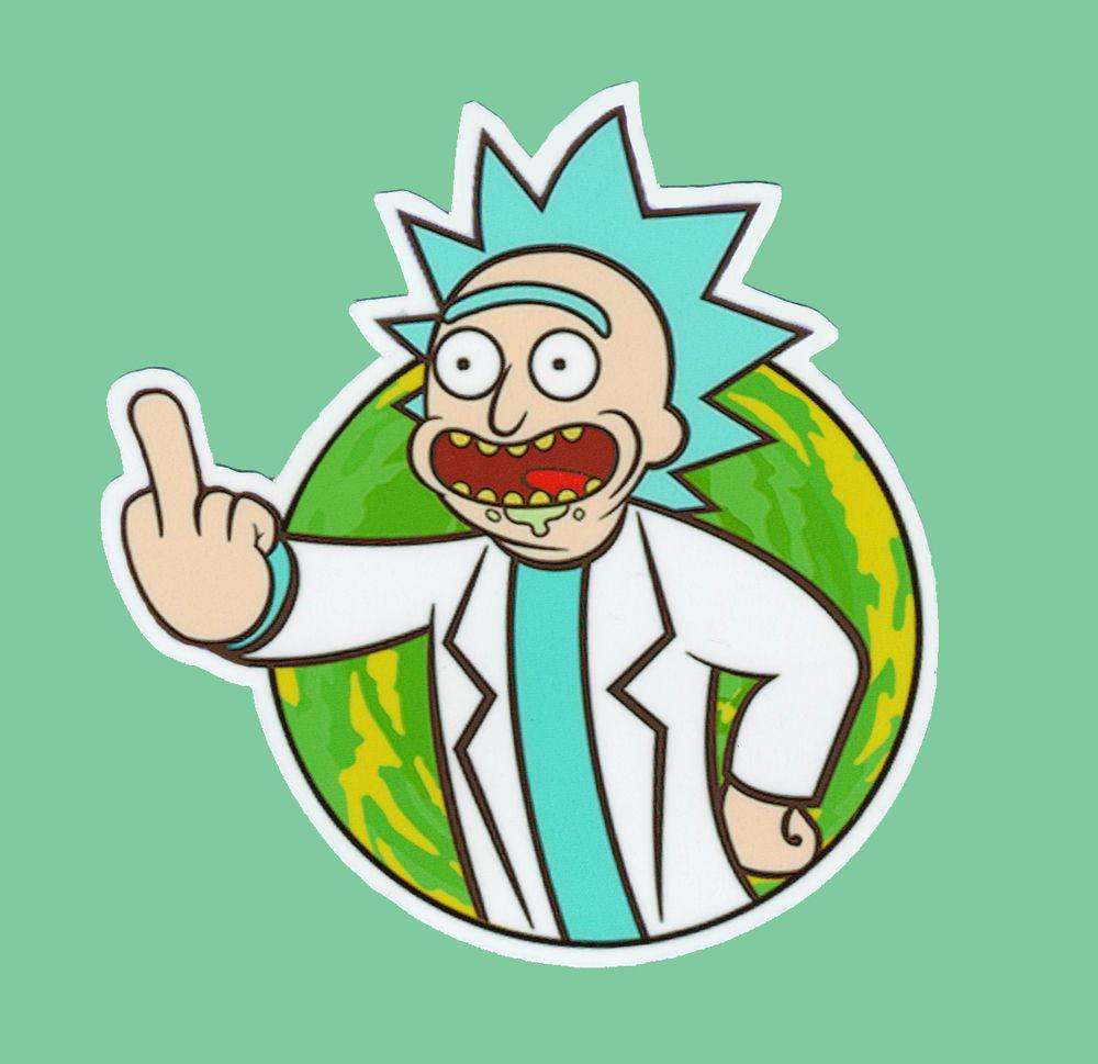 Rick and Morty vinyl sticker decal Rick Sanchez