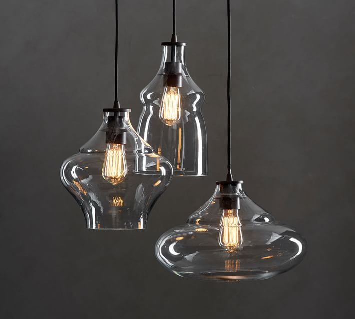 Mccarthy 3 Light Glass Pendant Glass Lighting Pottery Barn