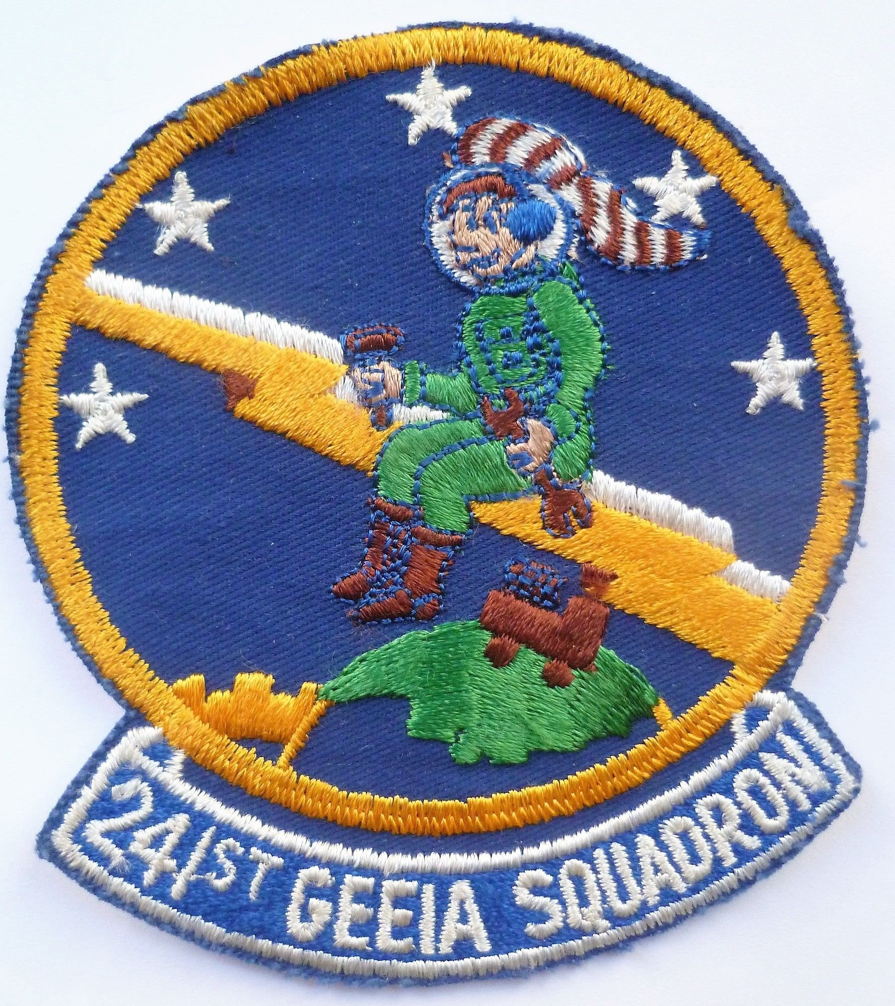 United States Air Force 241st GEEIA Squadron Cloth Patch