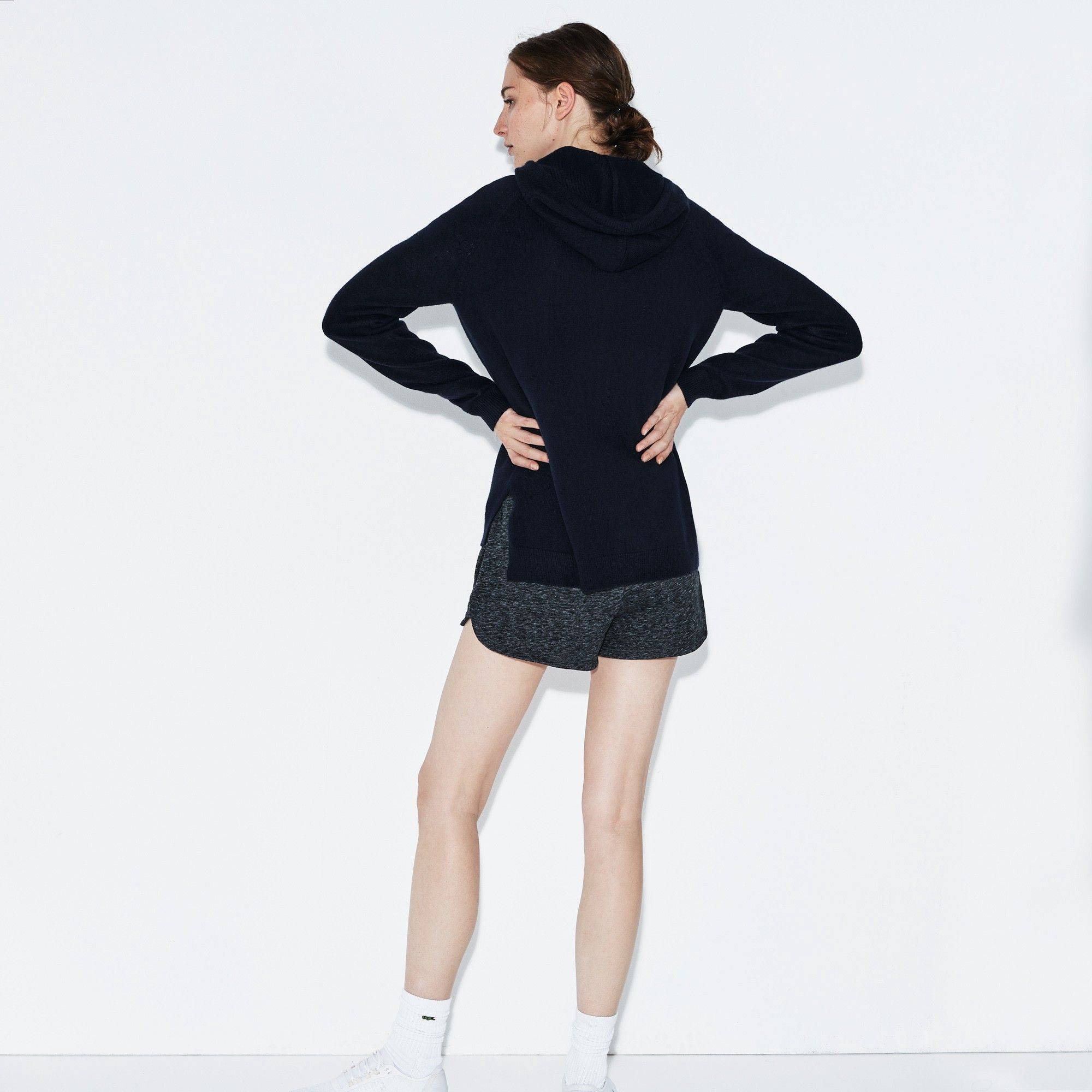 e04b2a05f1 Lacoste Women's Sport Tennis Cashmere Jersey Zip Sweatshirt - XXS ...
