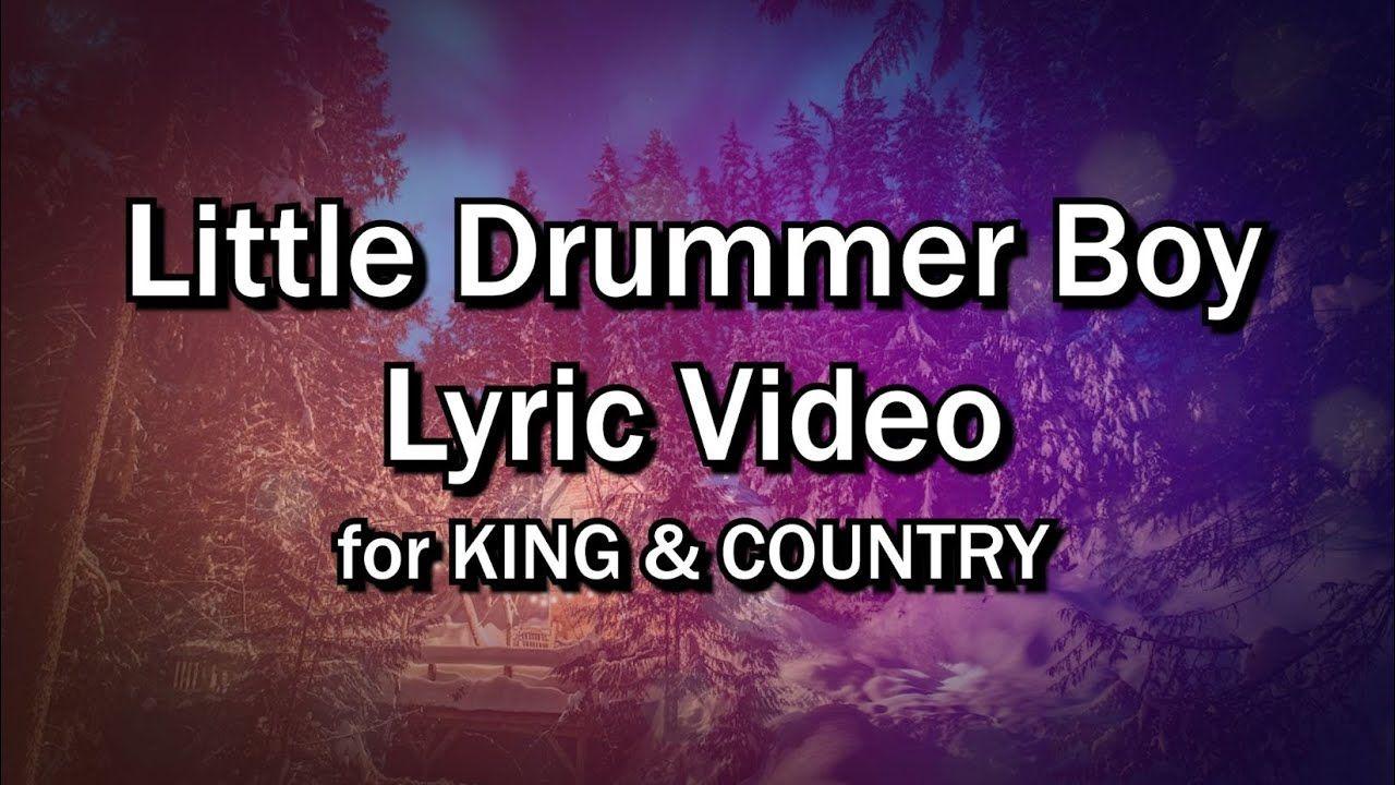 Little Drummer Boy (Lyrics Video) for KING & COUNTRY