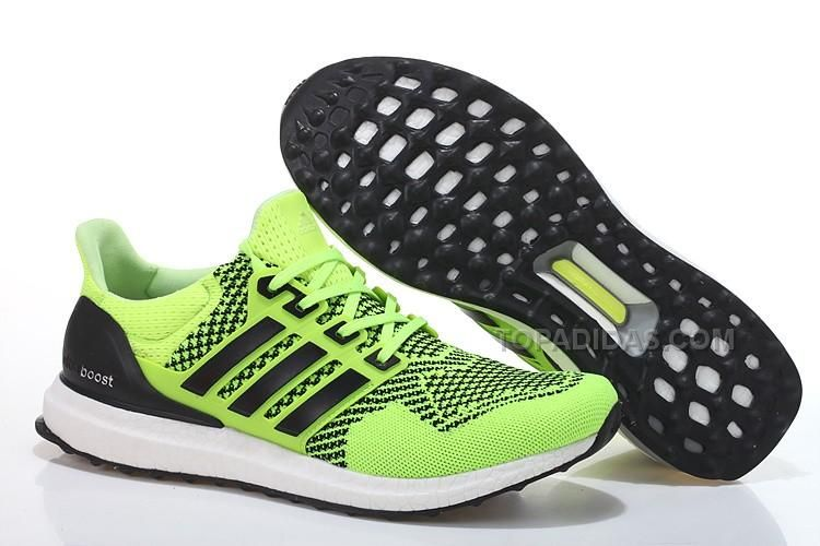 Buy Adidas Ultra Boost Mens/Womens Fluorescent Green/Black Running Shoes  from Reliable Adidas Ultra Boost Mens/Womens Fluorescent Green/Black Running  Shoes ...