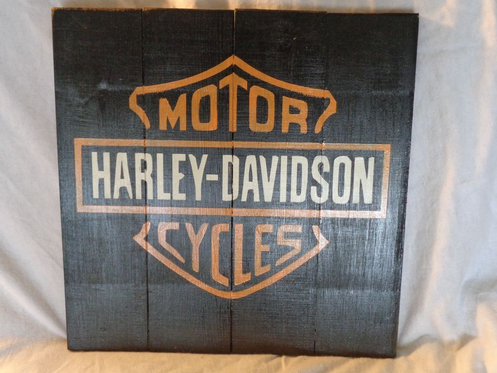 Harley Davidson Motorcycle Wooden Pallet Sign Home Decor Wooden Magnificent Harley Davidson Signs Decor