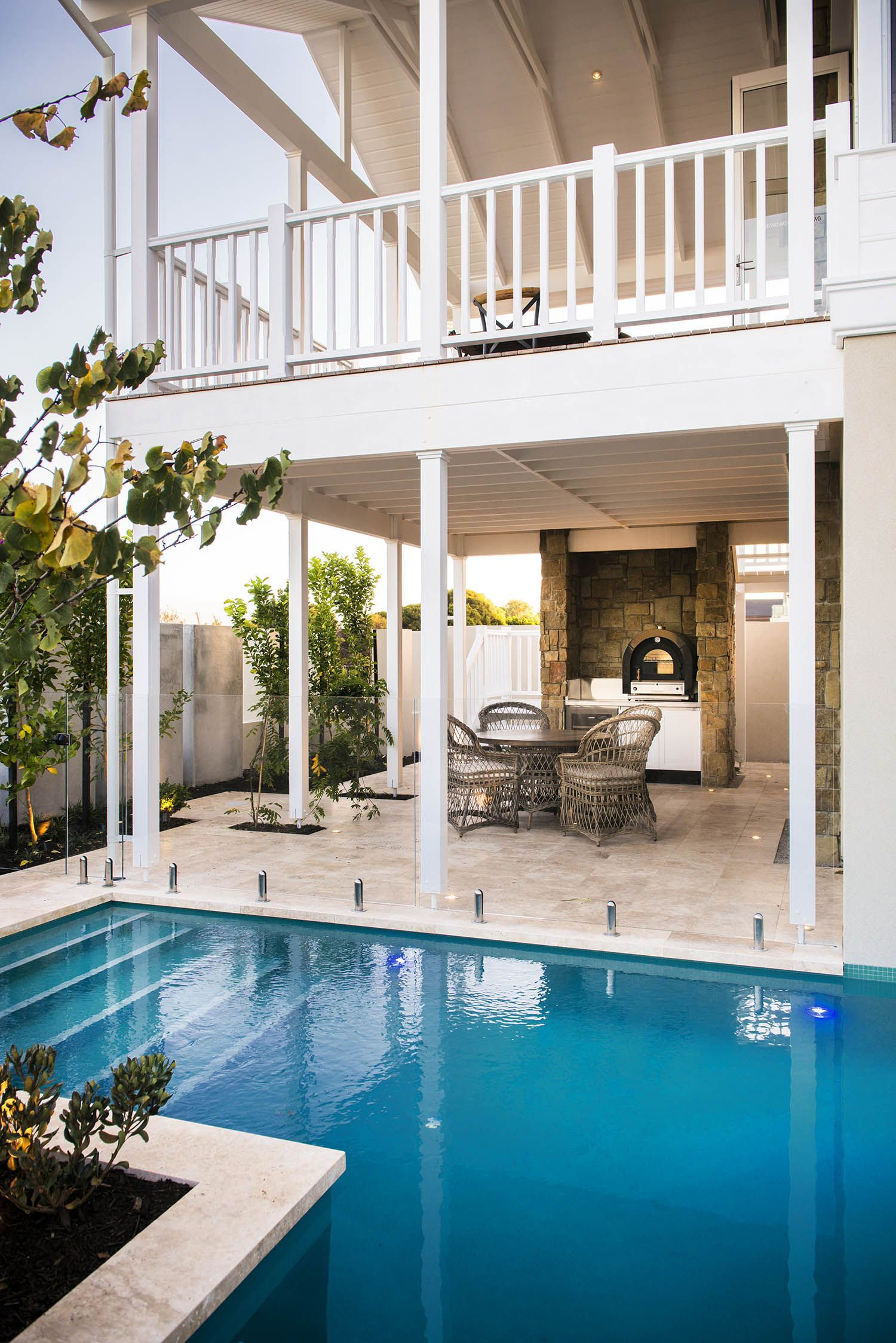 Pool side at the Grayson by Webb \u0026 Brown-Neaves   Alfresco\u0027s and ...