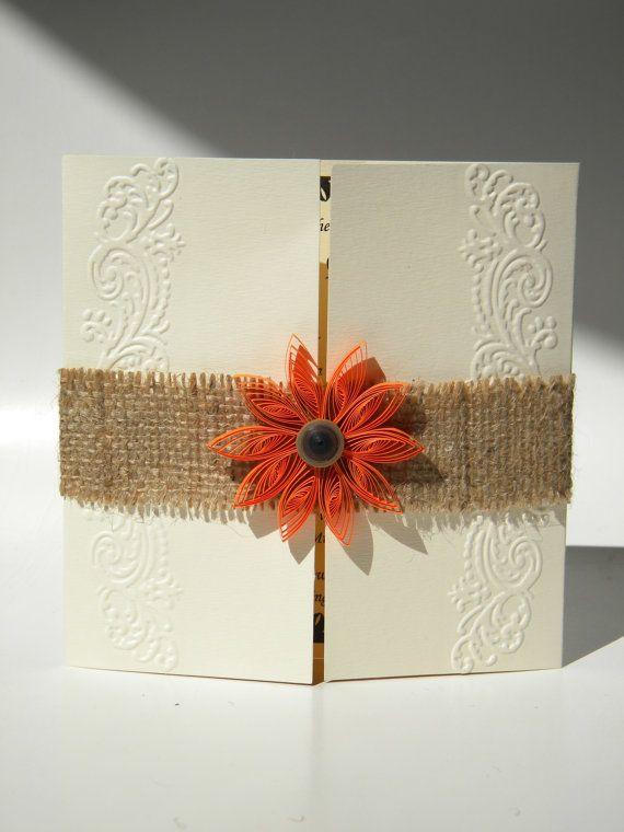 Herbst Hochzeitseinladung / Jute Hochzeit Einladung Von Ancamilchis