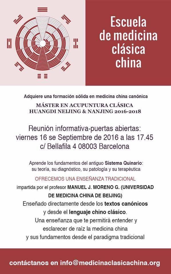 CHARLA PUERTAS ABIERTAS ACUPUNTURA CLÁSICA
