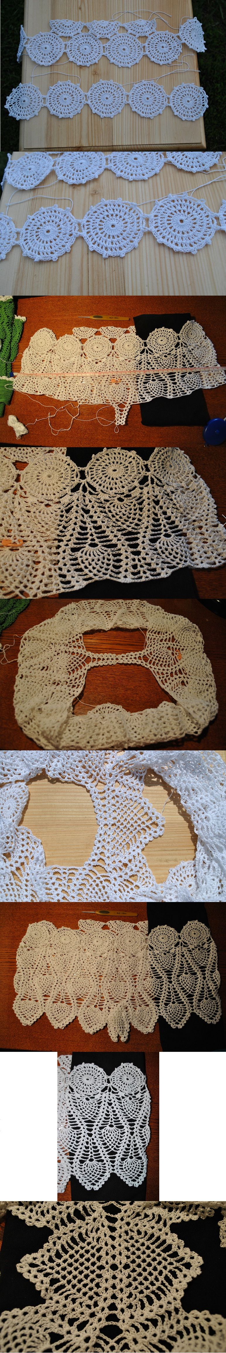 Crocheted shorts, perfect compliment to any bathing suit | encaje de ...