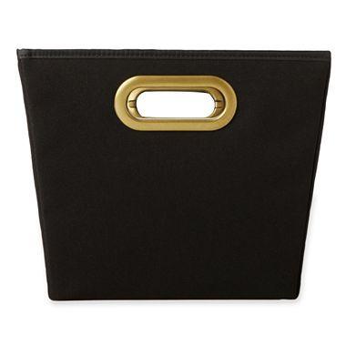 Black And Gold Storage Bin For Bookcase Michael Graves Design