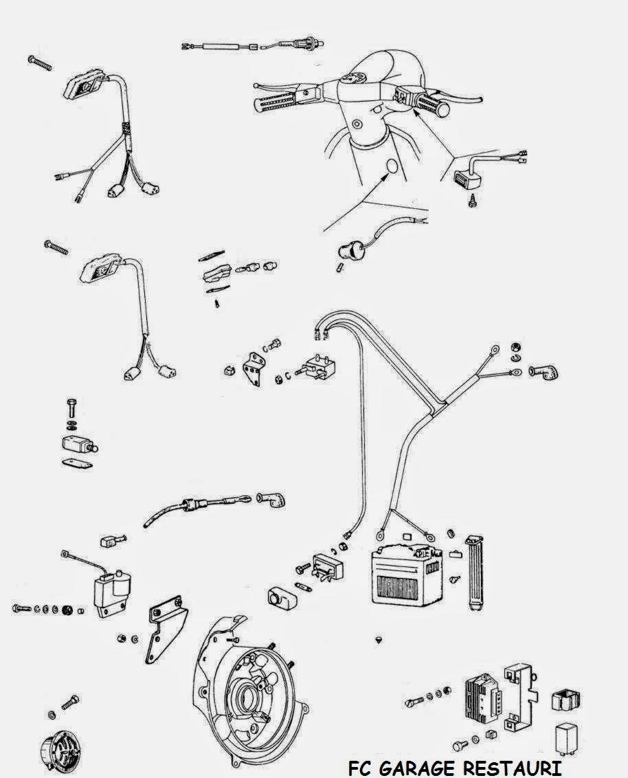 Fc Garage Restauri Esploso Componenti Elettrici Vespa Pinterest Wiring Diagram Px 125 Motorbikes Car