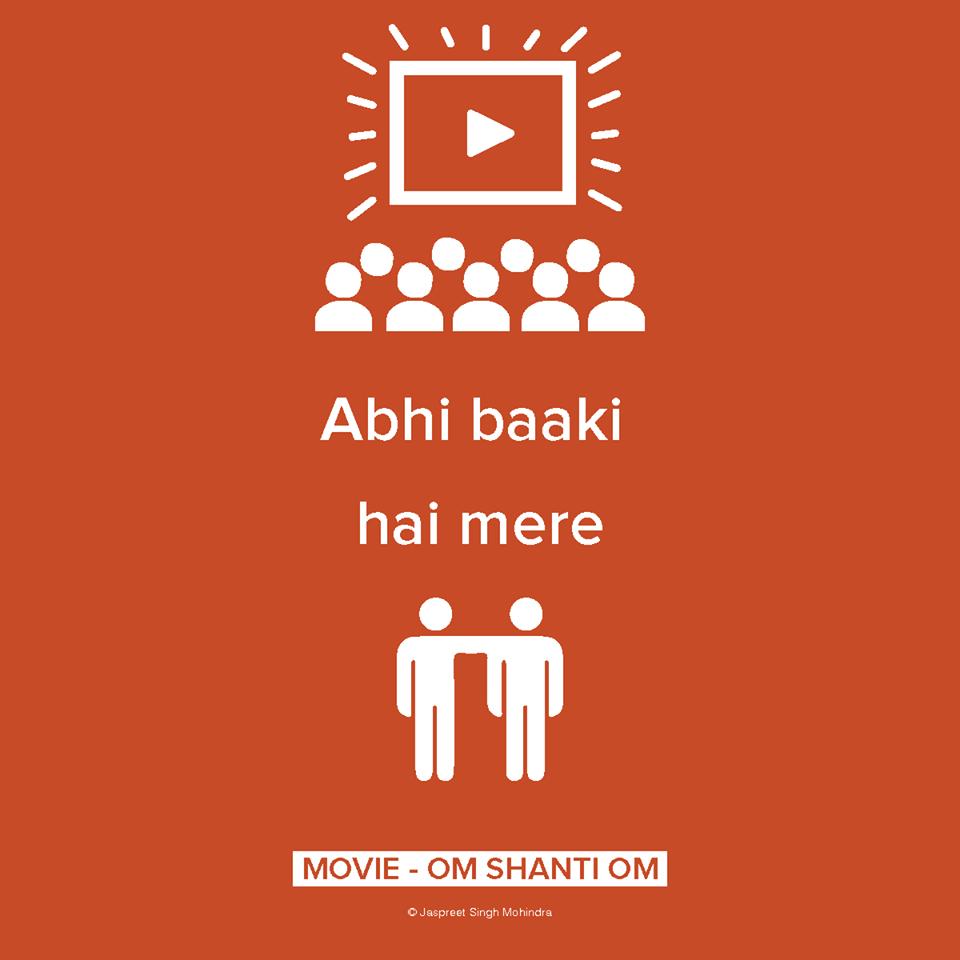 Om Shanti Om Bollywood Funny Movie Posters Minimalist Bollywood Posters