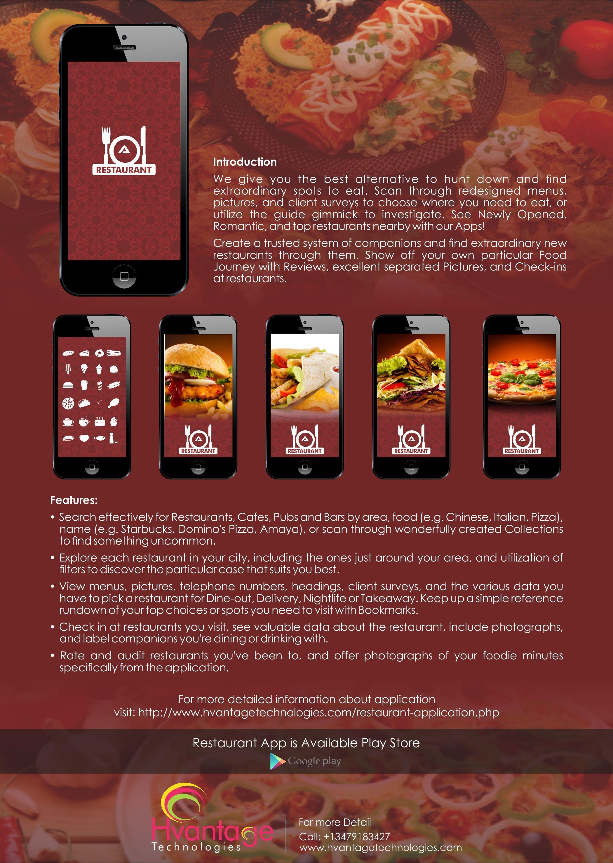Hvantage's RestaurantApp builder allows you to create