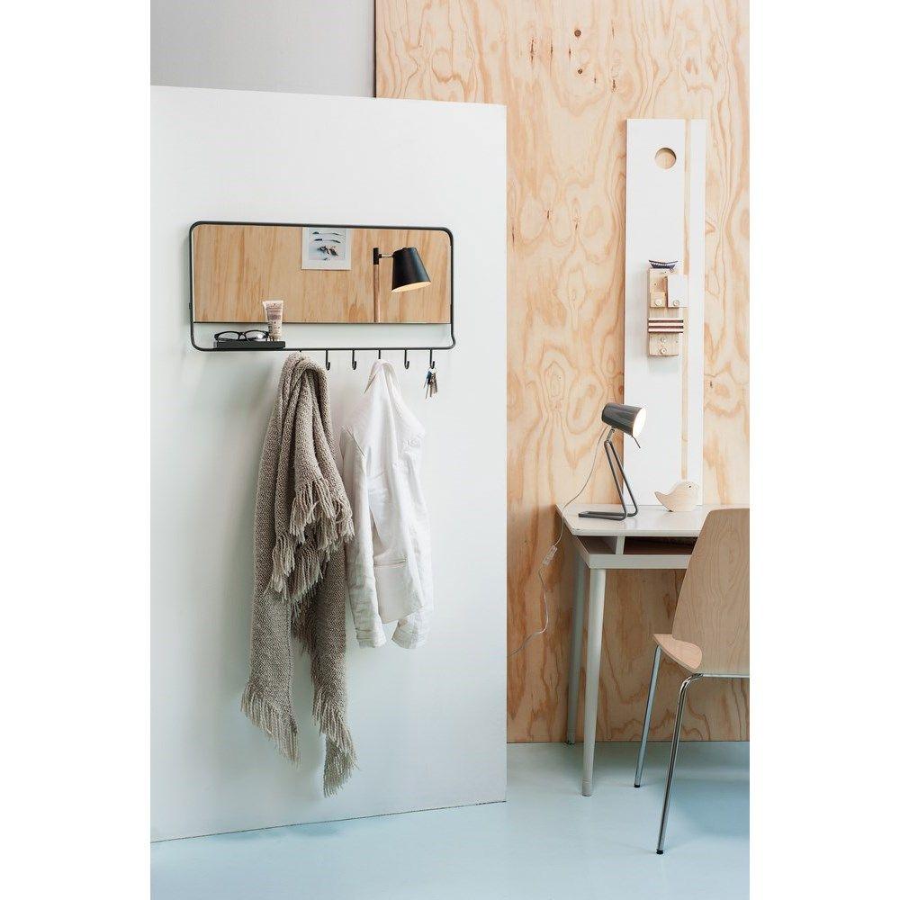 Hallway storage with sliding doors  Leitmotiv MirrorMe SpiegelKapstok  Grijs  At Home  Various