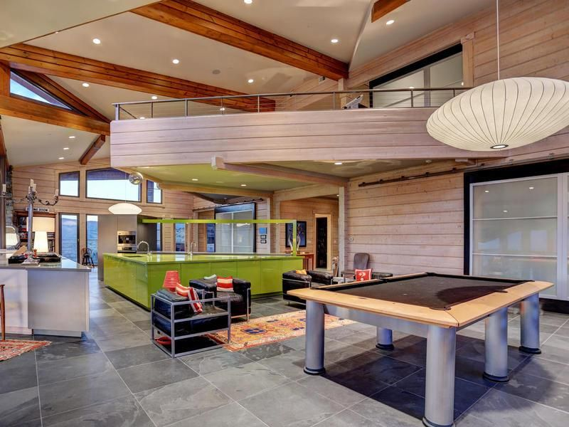 Best Place For A Pool Table Right Next To Your Kitchen  7871 N Amazing Pool Table Living Room Design Design Inspiration