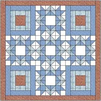 The diamond star quilt block makes a lovely quilt when paired with ... : diamond star quilt block pattern - Adamdwight.com