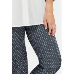 Photo of 7/8 Hose mit Minimaldessin Slim Fit Blau Gerry Weber