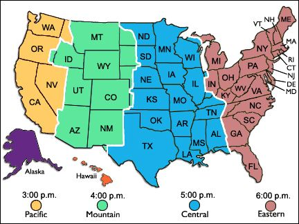 Time Zones Map Ky
