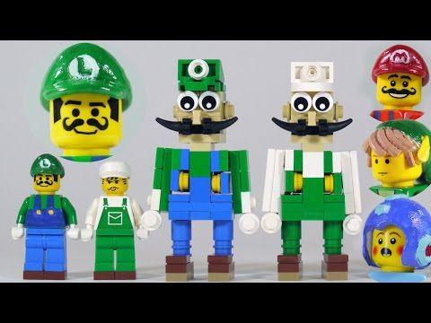 Custom LEGO Luigi Building Set Custom Set WITH Instructions to Build
